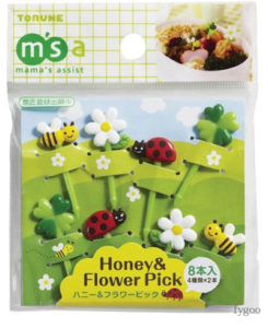 ミツバチとお花のピック トルネ fygoo.net