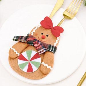 可愛いカトラリーレスト クリスマスカトラリーバック