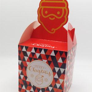ギフトボックス クリスマス柄 5枚セット(組み立て簡単) キャンディボックス サンタ fygoo.net