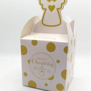 クリスマスラッピング ギフトボックス エンジェル柄 お菓子袋 箱 fygoo.net